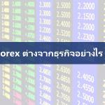 Forex Trading For Living : Forex ต่างจากธุรกิจอย่างไร